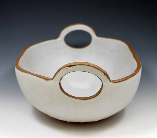 Modern Oval Bowl with Handles