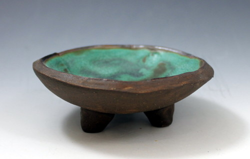 Turquoise Tripod Bowl